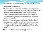 the role of direct marketing in the imc program