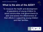 what is the aim of the aedi