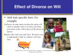 effect of divorce on will