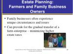 estate planning farmers and family business owners