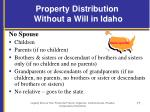 property distribution without a will in idaho1
