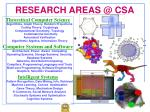 research areas @ csa