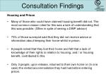 consultation findings