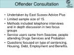 offender consultation