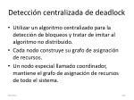 detecci n centralizada de deadlock