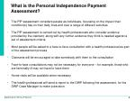 what is the personal independence payment assessment