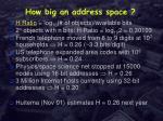 how big an address space