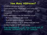 how many addresses