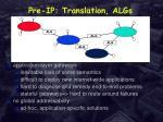 pre ip translation algs