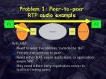 problem 1 peer to peer rtp audio example