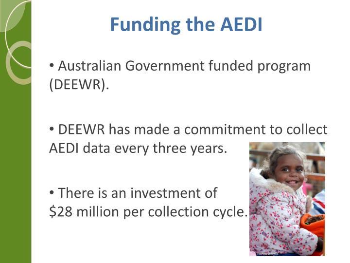 Funding the AEDI