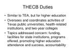 thecb duties