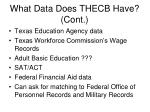 what data does thecb have cont