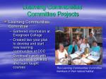 learning communities committee projects