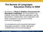 the review of languages education policy in nsw2
