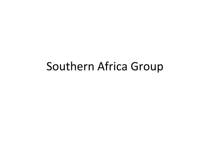 southern africa group n.
