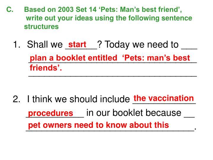 Based on 2003 Set 14 'Pets: Man's best friend',