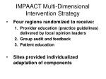 impaact multi dimensional intervention strategy