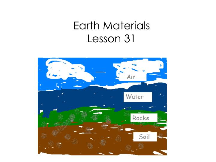 earth materials lesson 31 n.