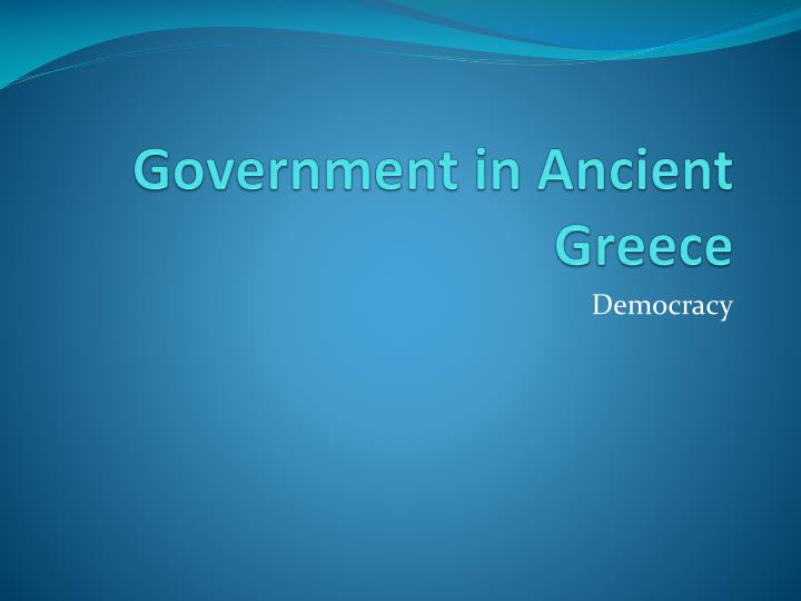 government in ancient greece n.