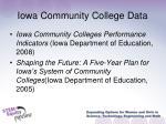iowa community college data