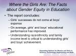 where the girls are the facts about gender equity in education