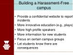 building a harassment free campus