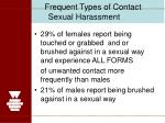 frequent types of contact sexual harassment