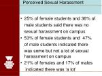 perceived sexual harassment