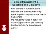 sexual harassment is upsetting and disruptive