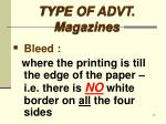 type of advt magazines5