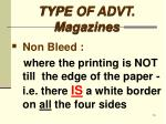 type of advt magazines6