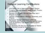 distance learning contributions