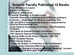 science faculty published 16 books