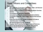 state officers and committees