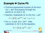 example curve fit