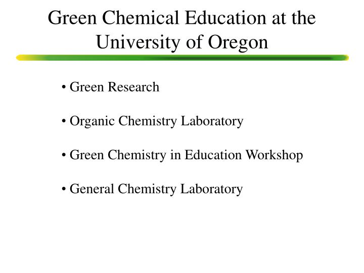 ppt green chemistry sustainability as a tool for Organic Chemistry Lab Organic Chemistry