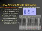how alcohol affects behaviors