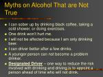 myths on alcohol that are not true