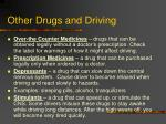 other drugs and driving
