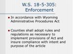 w s 18 5 305 enforcement