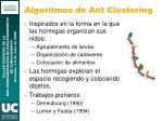 algoritmos de ant clustering