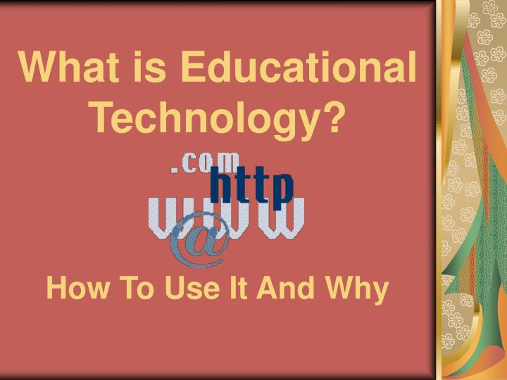 what is educational technology n.