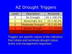 az drought triggers
