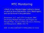 mtc monitoring
