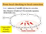 from local checking to local correction1