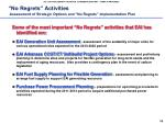 no regrets activities assessment of strategic options and no regrets implementation plan
