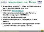 informationen zum thema