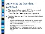 answering the questions continued1