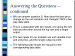 answering the questions continued2